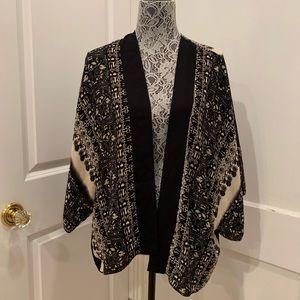 Kimono - Beautifully detailed Black and Tan